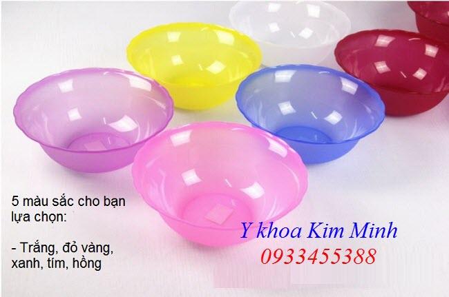 Bát nhựa spa đường kính miệng 22cm dùng trộn khuấy bột đắp body - Y Khoa Kim Minh 0933455388
