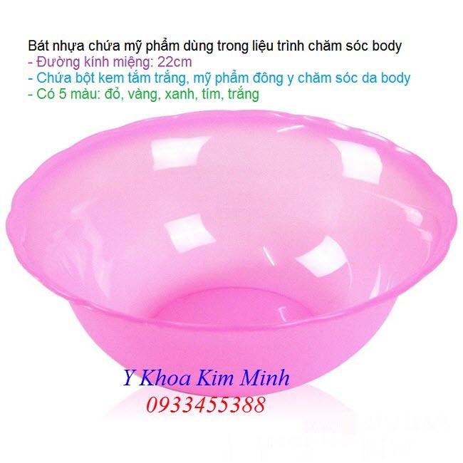Bát nhựa spa dùng để khấy trộn khem mỹ phẩm tắm trắng chăm sóc da body - Y khoa Kim Minh
