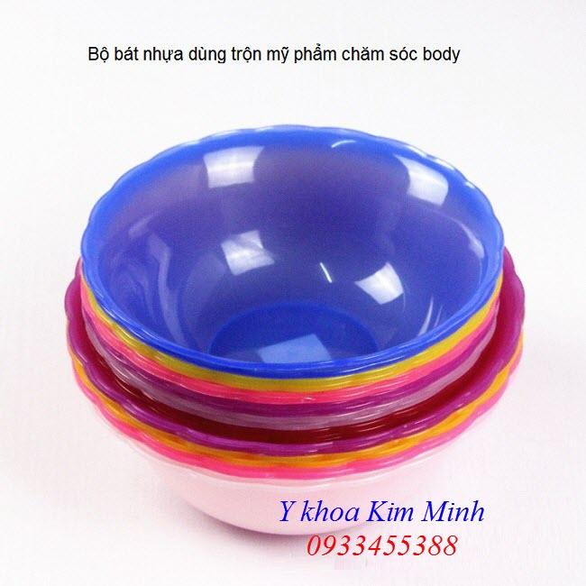 Bát nhựa spa trộn kem tắm trắng, mỹ phẩm dưỡng da body - Y khoa Kim Minh