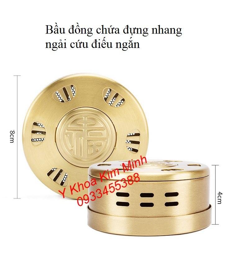 Bầu đồng đựng nhang ngải cứu chữa thoái hoá cột sống lưng cổ - Y khoa Kim Minh