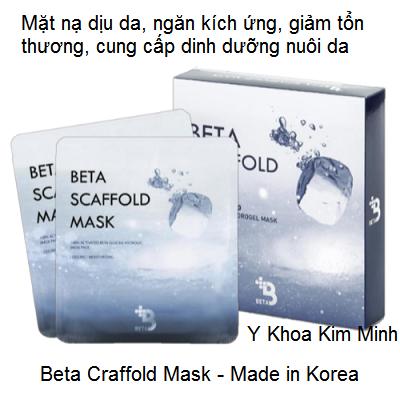 Beta Craffold Mask use after Needle Roller, mặt nạ làm dịu da ngăn tổn thương sau lăn kim - Y Khoa Kim Minh