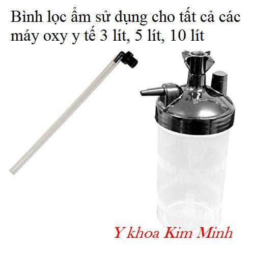 Bình lọc ẩm không khí trong máy oxy y tế 3 lít, 5 lít, 10 lít - Y khoa Kim Minh