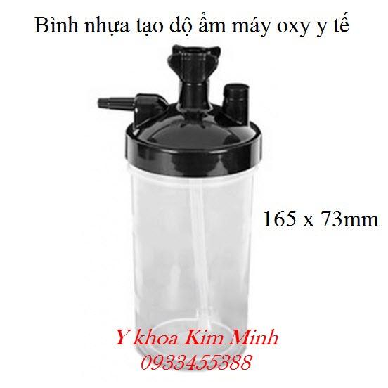 Bình nhựa tạo độ ẩm của máy oxy y tế kích thước 165 x 73mm - Y Khoa Kim Minh