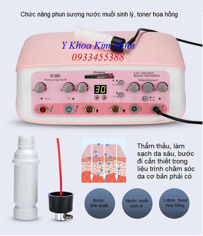Bình phun nước muối sinh lý, toner hoa hồng của máy chăm sóc da mặt đa năng bán tại Y khoa Kim Minh