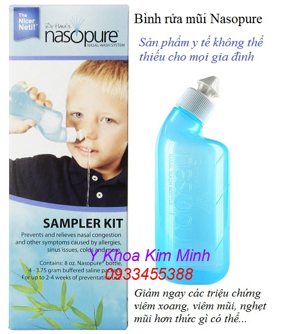 Bình rửa mũi Nasopure nhập mỹ chính hãng bán tại Tp.HCM - Y Khoa Kim Minh