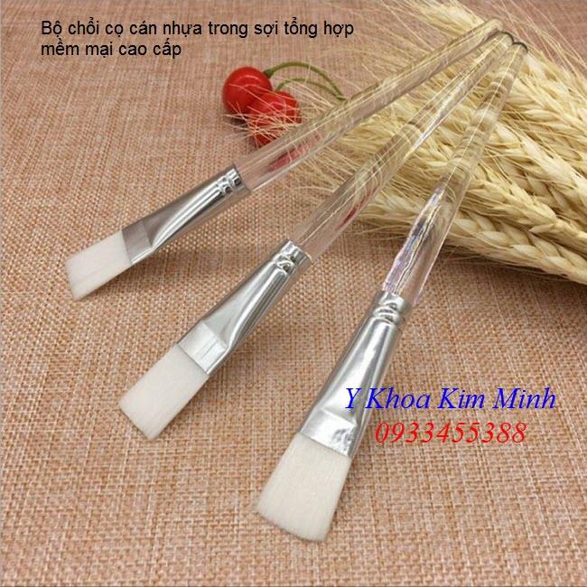 Bộ cọ quét đắp bột mặt nạ cán nhựa trong cao cấp - Y Khoa Kim Minh 0933455388