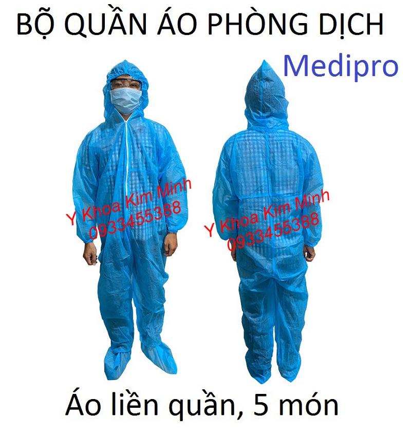 Quần áo phòng dịch Medipro 5 món bán giá sỉ tại Y Khoa Kim Minh