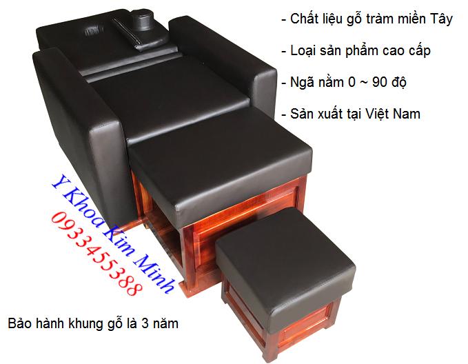 Bộ ghế foot spa 3 món sử dụng gỗ tràm miền Tây chất lượng cao cấp bảo hành 3 năm - Y Khoa Kim Minh 0933455388