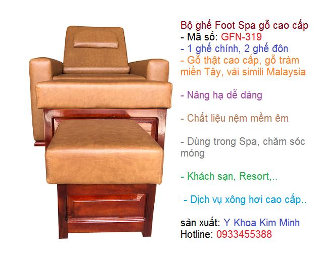 Ghế foot spa gỗ cao cấp GFN-319 bán tại Tp Hồ Chí Minh - Y Khoa Kim Minh 0933455388