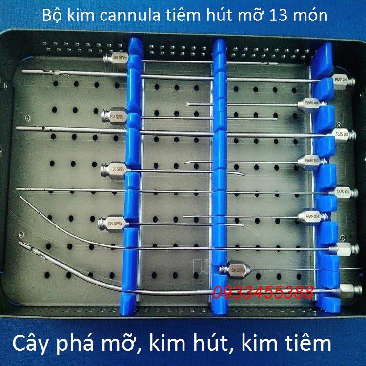 Bộ kim cannula 13 cây dùng tiêm hút mỡ, tiêm nâng ngực từ mỡ tự thân - Y khoa Kim Minh