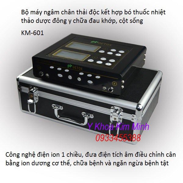 Bo may ngam chan thai doc co the 2 trong 1 KM-601 - Y khoa Kim Minh