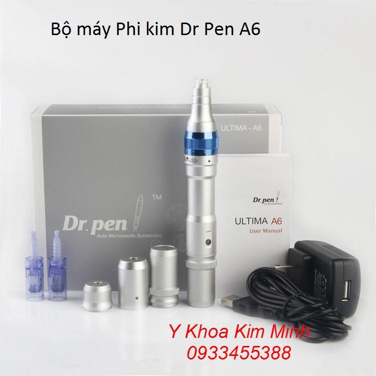 Bộ máy phi kim, lăn kim Dr Pen A6 bán giá sỉ chính hãng tại Y khoa Kim Minh