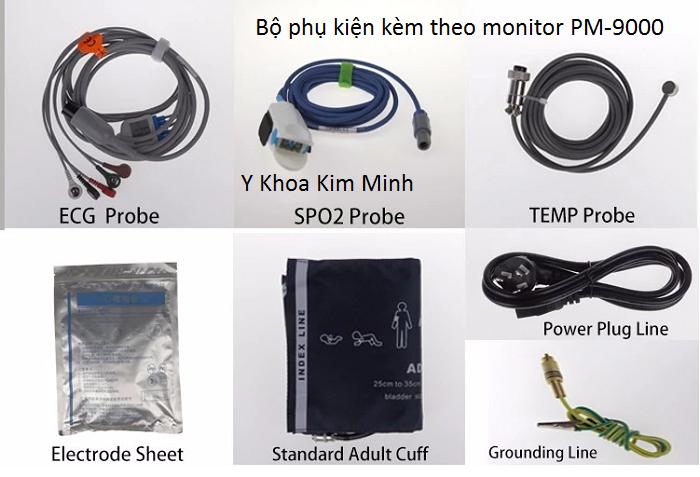 Bo phu kien di kem theo monitor PM-9000 - Y Khoa Kim Minh 0933455388