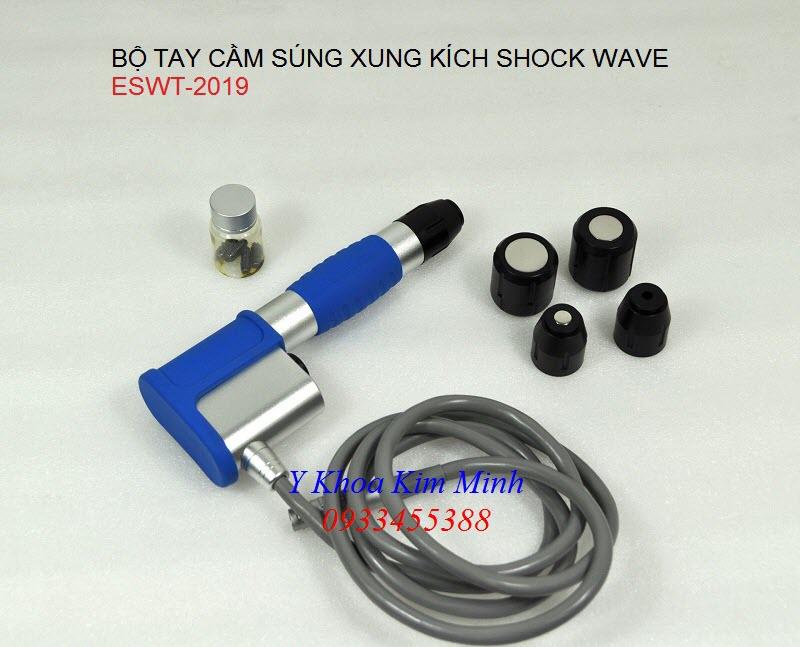 Bộ tay cầm và đầu điều trị máy xung kích ESWT Shock Wave - Y khoa Kim Minh 0933455388