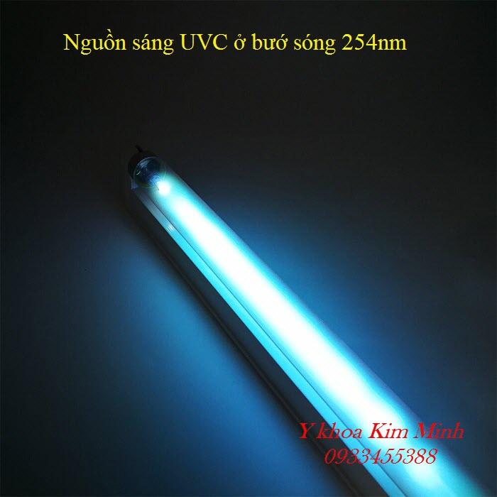 Bóng đèn cực tím UVC cho ánh sáng bước sóng 254nm sát khuẩn khử trùng mạnh - Y khoa Kim Minh