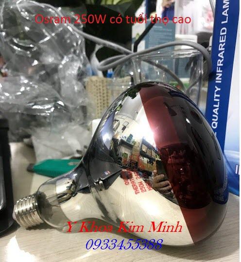 Dùng đèn hồng ngoại với bóng Osram 250 W có chức năng chữa bệnh tốt hơn - Y khoa Kim Minh