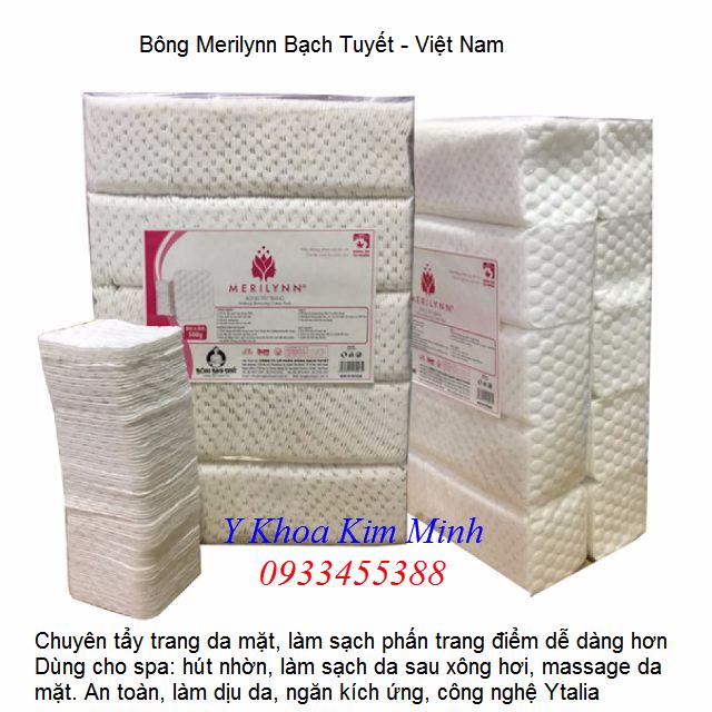 Bông tẩy trang spa, Merilynn Bạch Tuyết bán tại Y khoa Kim Minh