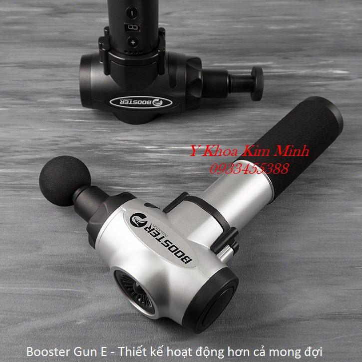 Booster Gun, máy massage rung 5 đầu 9 cấp độ chuyên điều trị đau cơ xương khớp - Y Khoa Kim Minh
