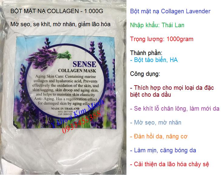 Bột mặt nạ collagen đắp mặt nạ dưỡng da chống nhăn mờ sẹo ngăn lão hóa nhập khẩu Thái Lan - Y khoa Kim Mnh 0933455388