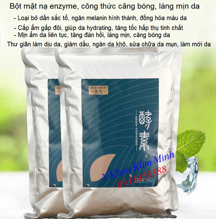 Nơi bán bột enzyme đắp mặt nạ trắng mịn căng bóng da trọng lượng 1kg - Y Khoa Kim Minh