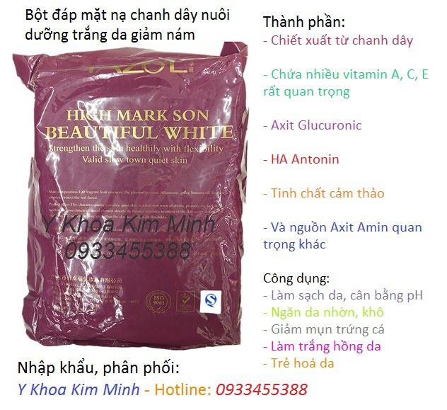 Bột đắp mặt nạ chanh dây làm sáng trắng mịn da, trị nám - Y Khoa Kim Minh 0933455388