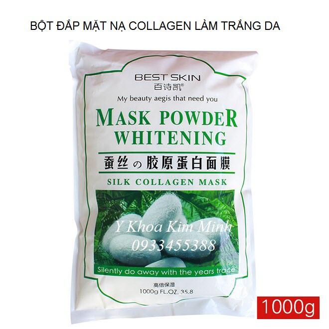 Bột dắp mạ làm trắng da, bột collagen tơ tằm nguyên chất 1000g - Y Khoa Kim Minh 0933455388