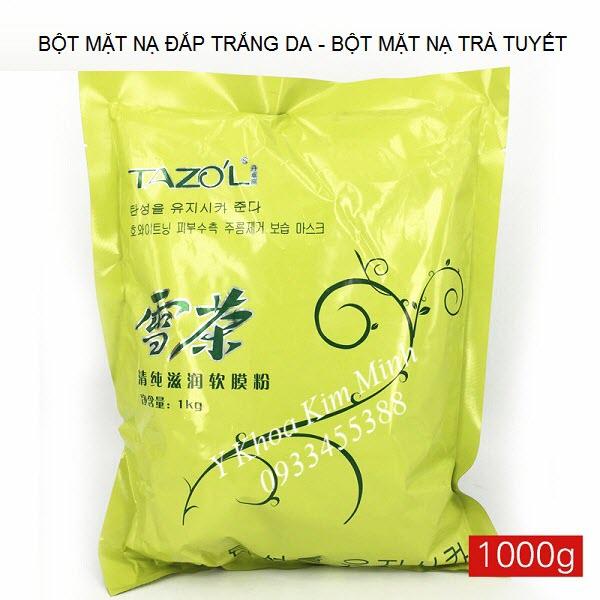 Bột mặt nạ đắp trắng da, bột đắp mặt nạ trà tuyết 1000g - Y Khoa Kim Minh 0933455388