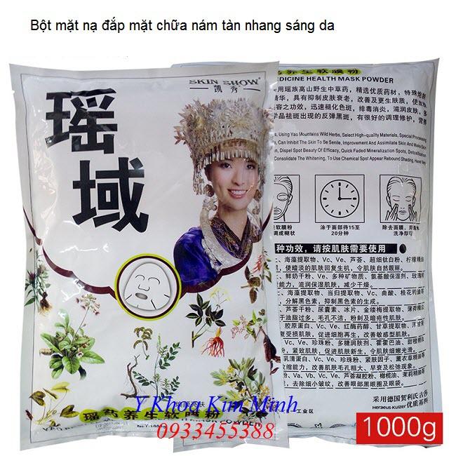 Bot mat na thao duoc dap sang da chua nam tan nhang su dung tai Spa - Y Khoa Kim Minh