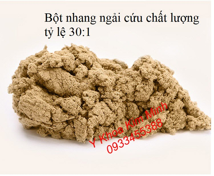 Bột nhang ngải cứu chất lượng có tỷ lệ 30:1 - Y Khoa Kim Minh