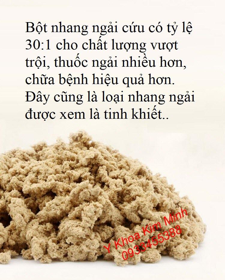 Bột làm nhang ngải cứu giấy quấn lá dâu điếu ngắn - Y khoa Kim Minh