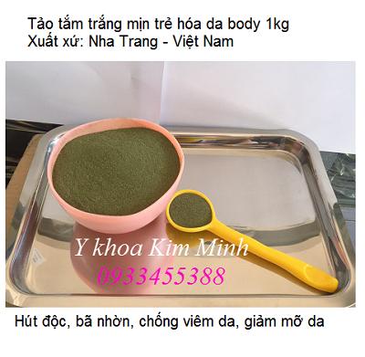 Bột tảo xoắn, bột tảo biển, bột rong biển Spirulina Việt Nam tắm trắng da toàn thân - Y khoa Kim Minh