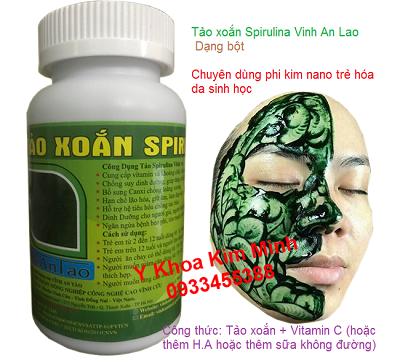 Bột tảo xoắn Spirulina phi kim cấy tảo trẻ hoá da - Y Khoa Kim Minh