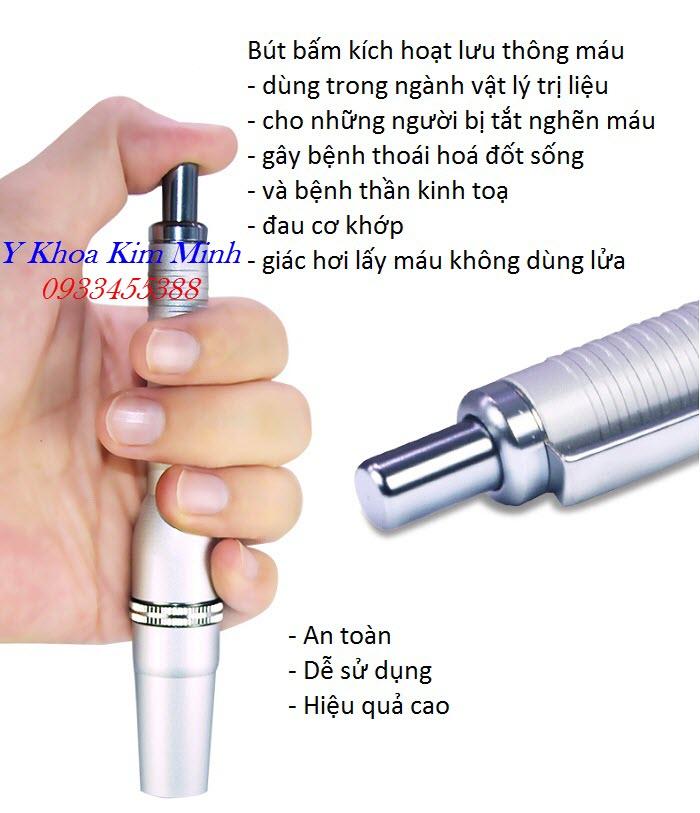 Bút bấm lấy máu 3 kim chữa bệnh thoái hoá cột sống và thoát vị đĩa đệm - Y Khoa Kim Minh