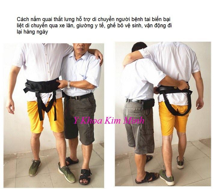 Cách thức hỗ trợ người bệnh di chuyển khi dùng đai - Y khoa Kim Minh