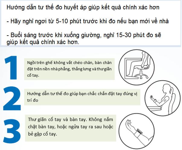 Hướng dẫn các sử dụng máy đo huyết áp cổ tay, máy đo huyết áp bắp tay Omron chính xác - Y khoa Kim Minh