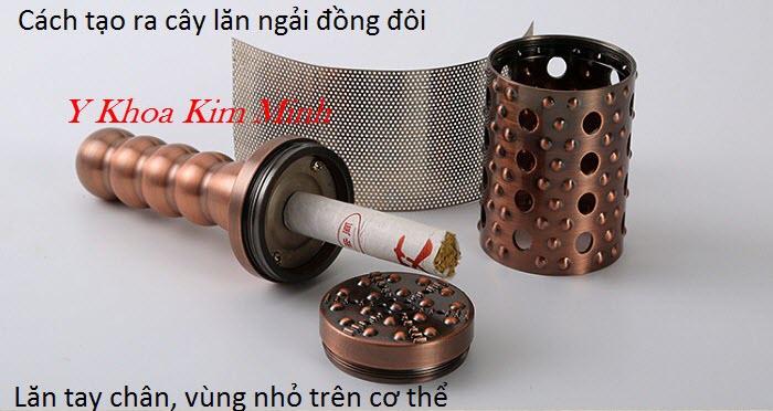 Cách lắp ráp tạo ra lăn ngải đồng đơn chữa bệnh đau cơ xương khớp - Y Khoa Kim Minh