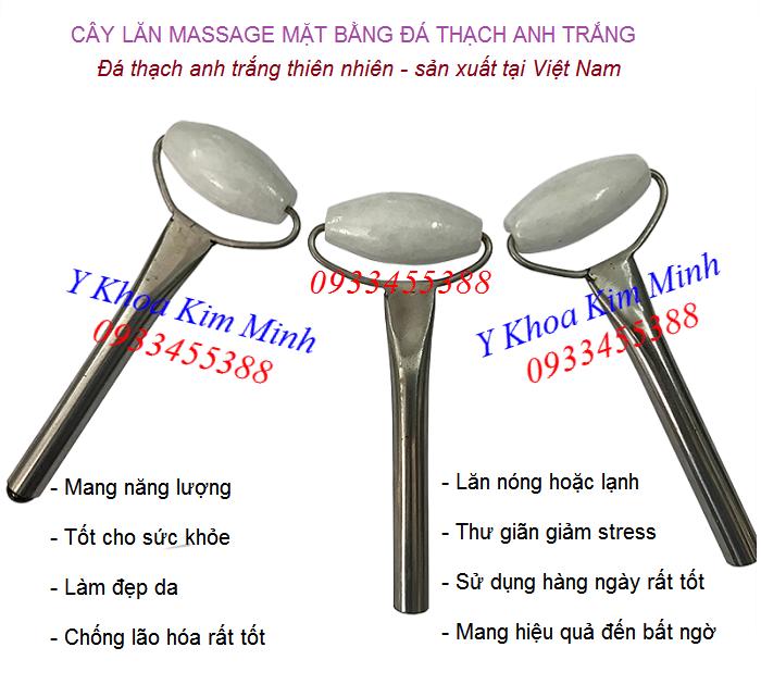 Địa chỉ bán cây lăn đá thạch anh trắng dùng massage mặt sản xuất tại Việt Nam - Y khoa Kim Minh
