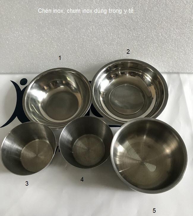 Chén chum inox dùng trong y tế - Y khoa Kim Minh