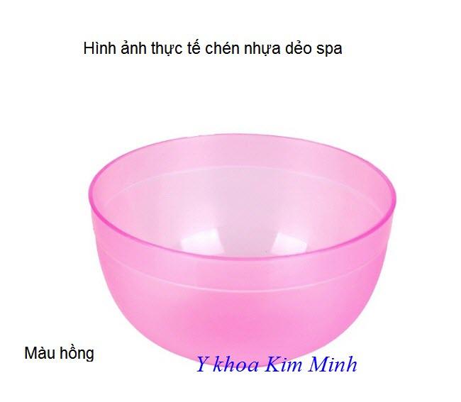Chén nhựa Spa màu hồng - Y khoa Kim Minh 0933455388