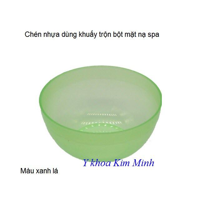 Chen nhua deo dung khuay bot dap mat na spa mau xanh la - Y khoa Kim Minh