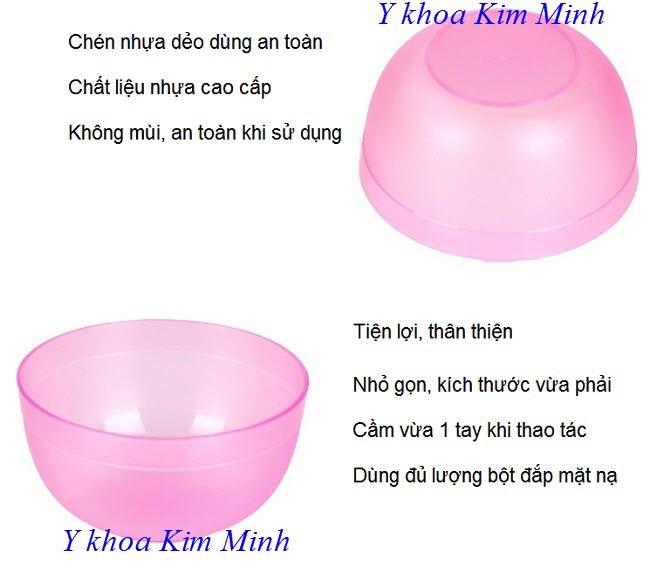 Chén nhựa dẻo dùng trộn bột đắp mặt nạ chăm sóc da - Y khoa Kim Minh