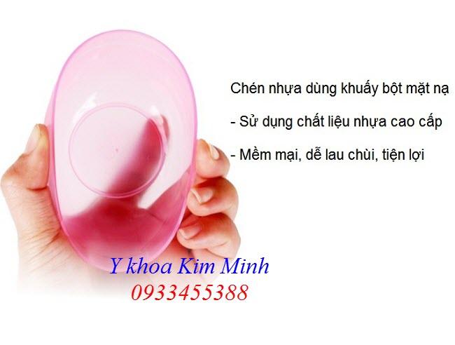 Chén nhựa dẻo dùng để quấy bột đắp mặt nạ spa - Y khoa Kim Minh 0933455388