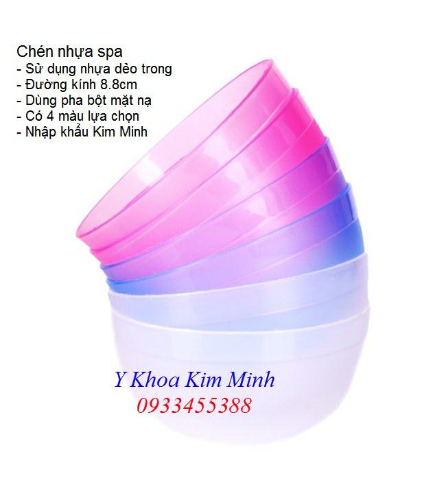 Chén nhựa spa dùng để pha bột đắp mặt nạ dưỡng da - Y khoa Kim Minh 0933455388