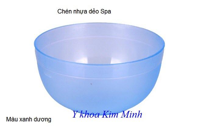 Chén nhựa dẻo spa màu xanh dương - Y khoa Kim Minh 0933455388