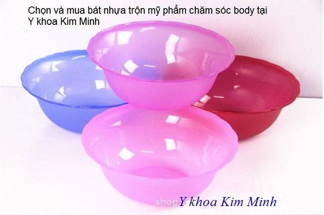 Noi ban chen nhua lon 22cm dung tron my pham lam trang da body - Y Khoa Kim Minh