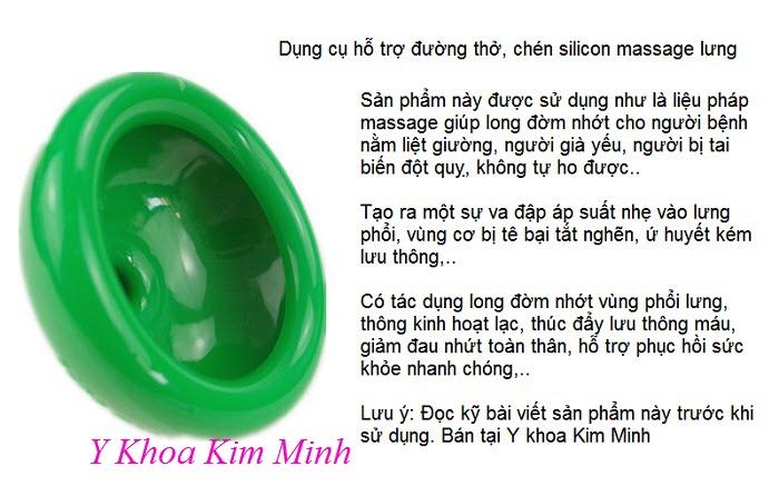 Chén silicon hỗ trợ người tai biến bị đàm nhớt, dung cu ho tro duong tho - Y khoa Kim Minh