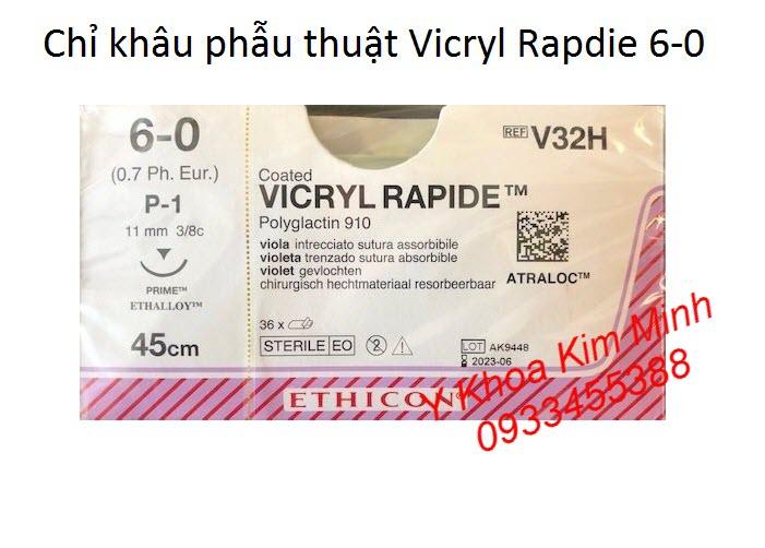 Chỉ khâu tầng sinh môn, chỉ khâu niêm mạc phụ khoa, chỉ Vicryl Rapide 6-0 V32H