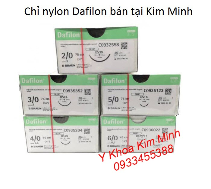 Dafilon B.Braun Tutures 2-0, 3-0, 4-0, 5-0, 6-0 bán tại Y khoa Kim Minh