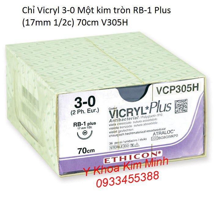 Chỉ vicryl tự tiêu 3-0 RB-1 Plus V305H