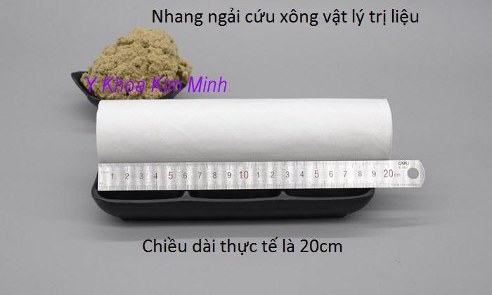 Chiều dài của nhang ngải cứu đại là 20cm - Y Khoa Kim Minh